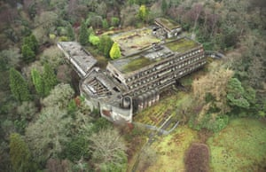 Aerial view of St Peter's Seminary in Glasgow.