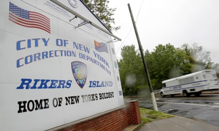 The entrance to Rikers, New York City's largest jail.