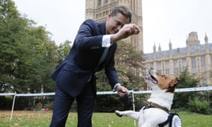 Conservative party MP for Hendon Matthew Offord with his dog Maximus. Those born outside the UK will be crucial to deciding who wins his marginal seat in May.