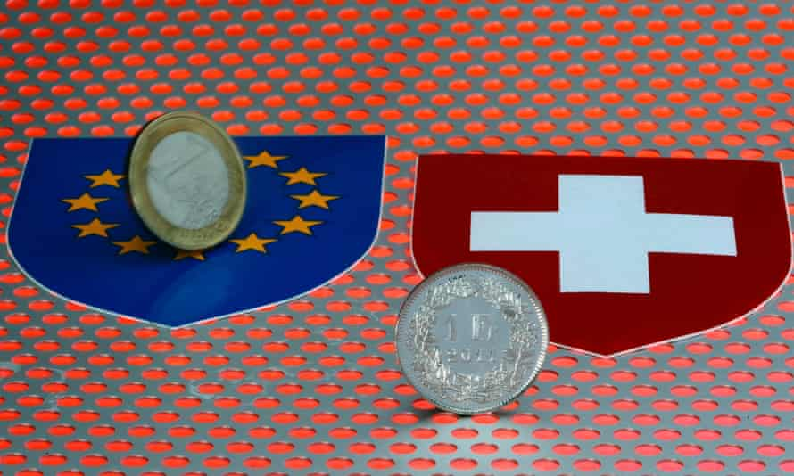 Frantic forex trading after the SNB scrapped its cap on the Swiss franc wiped $100bn off Switzerland's blue-chip companies