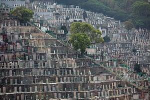 Qingming Festival at the Pok Fu Lam Cemetery.