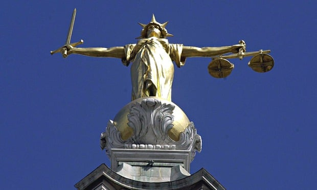 The scales of justice at the Old Bailey