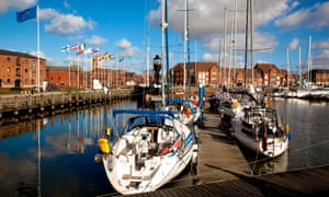 When the boats come in … 'If you only see one thing in Hull, walk around the Marina, says Lucy Beaumont of her home town.