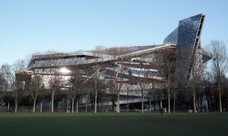 Looming hulk … the building towers over Parc de la Vilette in the east of Paris.