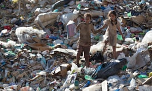 A scene from Stephen Daldry's latest film, Trash, set at the Gramacho waste dump … its closure has