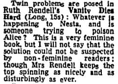 Rendell 31 March 1966