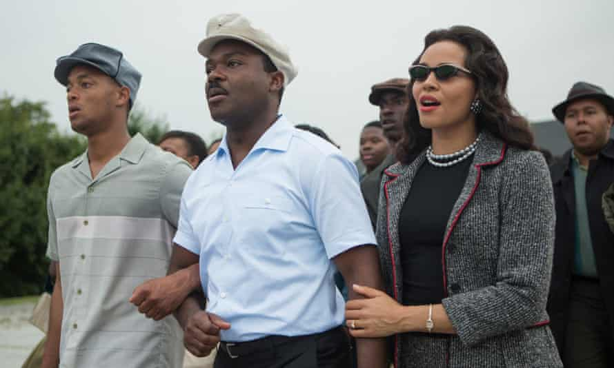 The Academy's omission of black actors such as David Oyelowo, center, from its 2015 nominations sparked the #OscarsSoWhite hashtag.
