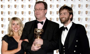 Aids drama … former Doctor Who showrunner, Russell T Davies, pictured with Billie Piper and David Tennant, is writing a series about the impact of the disease in the 1980s.