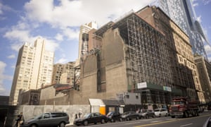 Site for the Nordstrom Tower, next to the Art Students League on West 57th Street.