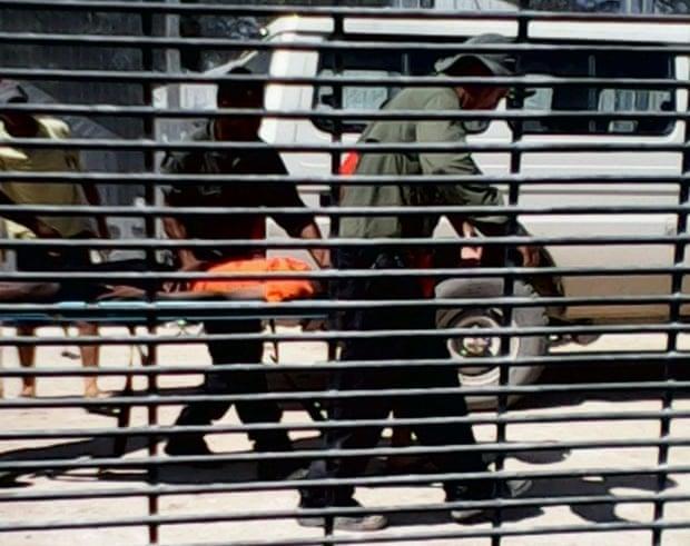Manus Island detainee on stretcher