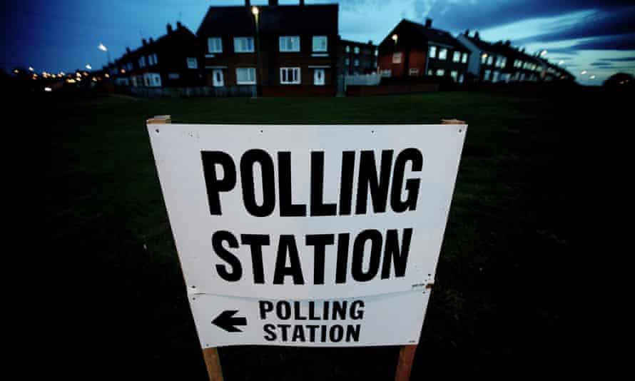 Polling station in South Shields.
