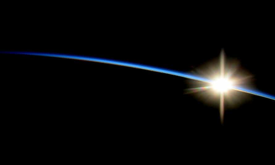 sunrise over earth from the international space station