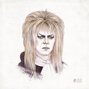 "Helen Green David Bowie 1986 ""As Jareth the Goblin King from the film Labyrinth."""