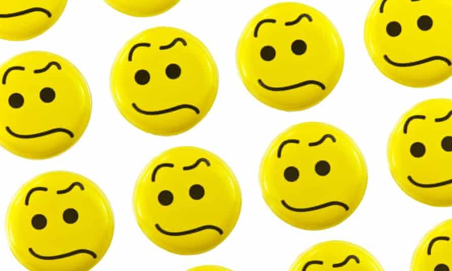 upset emoticons on a white background