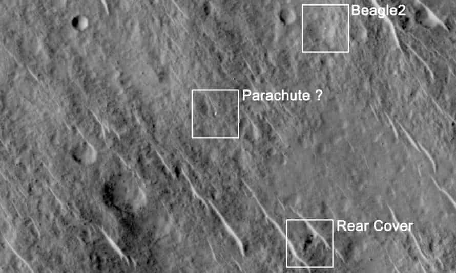 Images from Beagle 2 on Mars released by the UK Space Agency on 16 January 2015