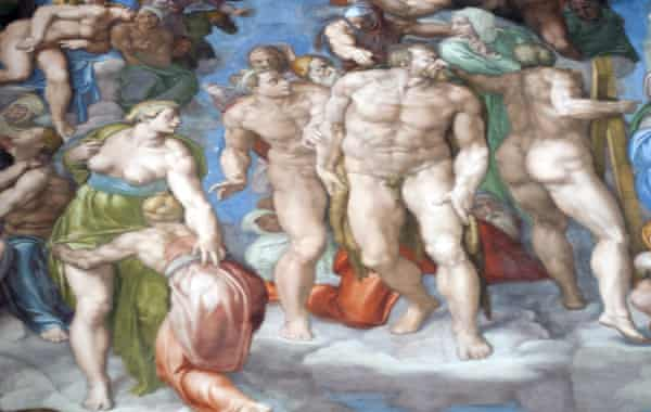 detail from Michelangelo's Last Judgment in the Sistine Chapel.