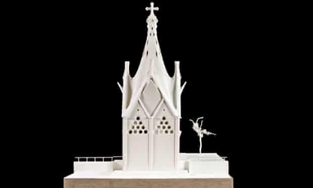 Model of the Our Lady of the Angels chapel, to be built in Rancagua