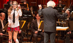 Barbara Hannigan and Simon Rattle at the Barbican