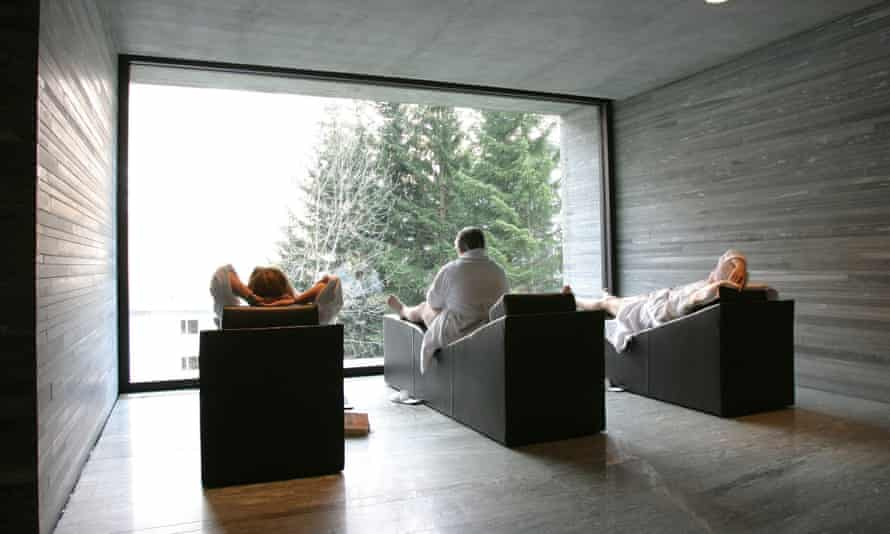 The Peter Zumthor-designed Vals Thermal Baths, Switzerland.