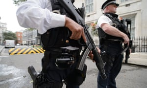 Counter-terrorism police on patrol in the UK.