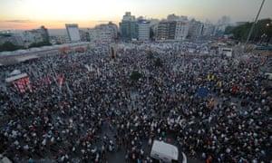 Protesters gather in Taksim Square, June 2013