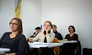 French Jewish immigrants Hebrew class