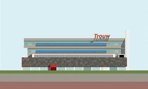 Graphic designer Pablo Benito print of the recently closed Trouw club in Amsterdam