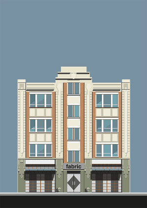London's Fabric nightclub in an illustration by Pablo Benito