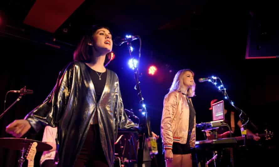 Ekkah's Rebecca Wilson, left, and Rebekah Pennington: 'gilded night-creatures-next-door singing about love and dancing'.