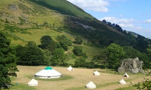 Luxury tents at Wilderness Minds' glamping retreat in Wales