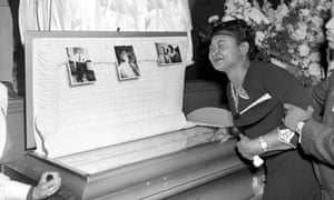 Mamie Till Mobley at her son's funeral.