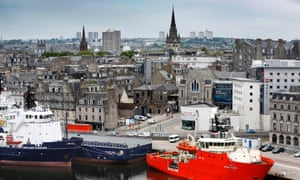Aberdeen Harbour and city skyline