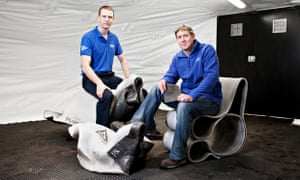 Peter Brewin (L) and Will Crawford (R), founders of Concrete Canvas
