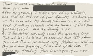 A Letter To Mom.Guantanamo Diary I Smelled A Letter That Had Touched My