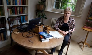At the scene of the crimes … Ruth Rendell
