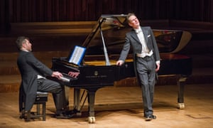 Thomas Ades on piano and Ian Bostridge singing Winterreise by Schubert at the Barbican.