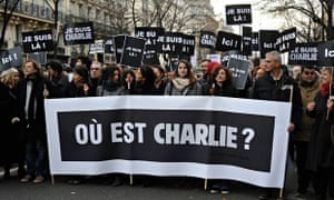 Je Suis Charlie placards in Paris