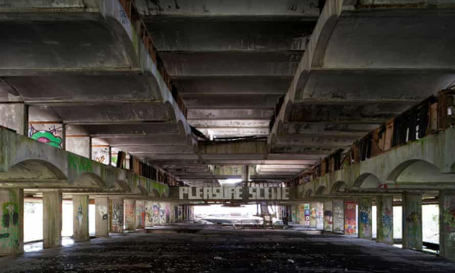 Inside the abandoned seminary as it is today.