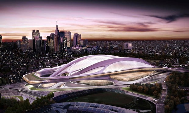 An artist's impression of the new Olympic stadium