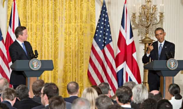 David Cameron and Barack Obama, possibly reinforcing the 'attention structure' often observed among