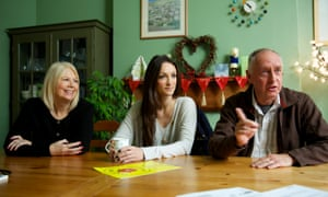 Pam Foster, Ebony Ava Johnson and Ian Roberts of the Residents Action on Fylde Fracking group.