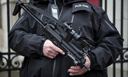 Armed police officer