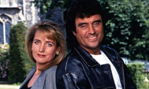 Ian McShane, pictured here with co-star Caroline Langrishe, starred as Lovejoy in the BBC1 series be