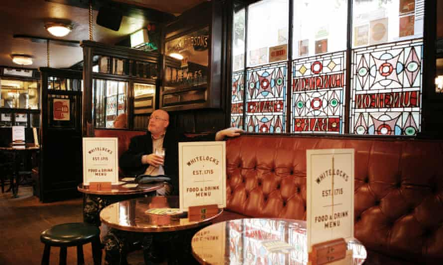 Inside Whitelock's, a Grade-II listed pub that dates back to 1715.