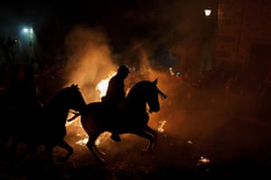 The bonfire ritual happens the night before the official day of honouring animals in Spain