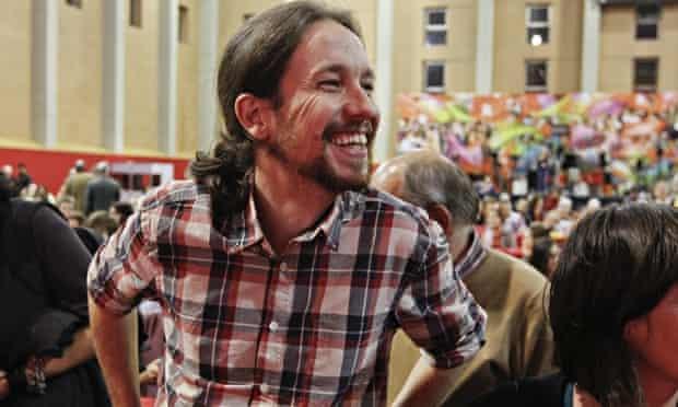 Pablo Iglesias of Spain's anti-austerity Podemos party