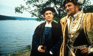 Paul Schofield, left, as Thomas More in the 1966 film A Man for All Seasons, with Robert Shaw as Henry VIII.
