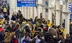 Queues build up as the departure gates are closed at the Eurostar terminal in London.