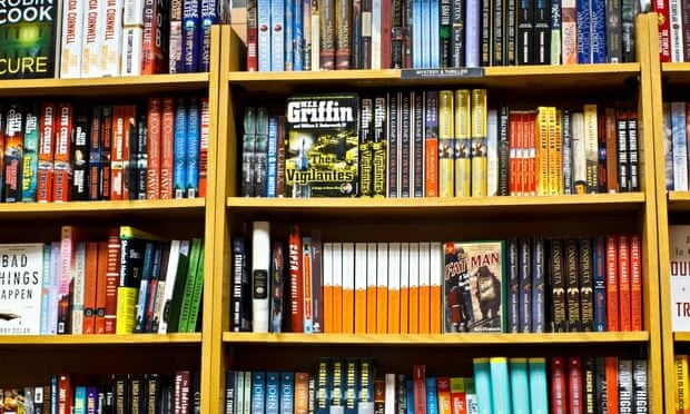 Fully Stocked Bookstore Shelves, USA. Image shot 2011. Exact date unknown.