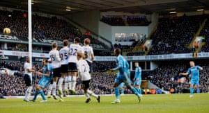 Sebastian Larsson scores for Sunderland, but it's not enough, as Tottenham go home from White Hart Lane, 2-1 winners.